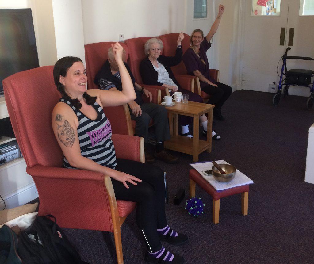 Yoga at Broadoaks this morning